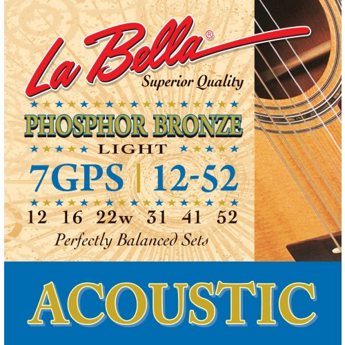 La Bella Acoustic Guitar Strings - Phosphor Bronze Series