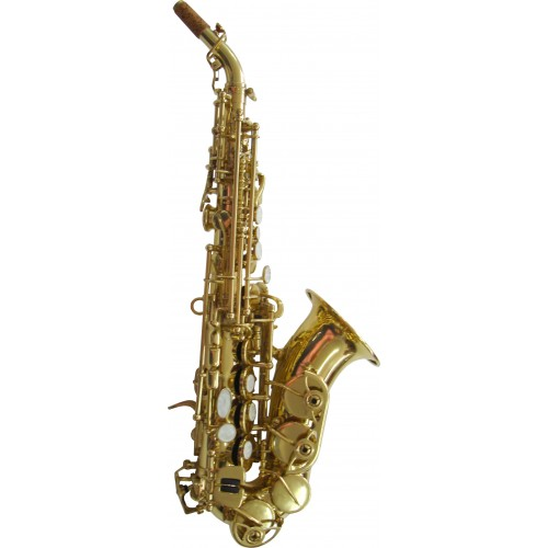Rosetti Series 7 Curved Soprano Saxophone Outfit - Lacquer