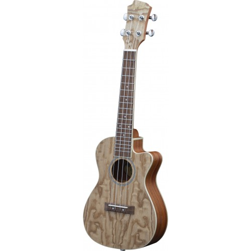 Adam Black Exotic Wood Series Concert CE Ukulele - Quilted Ash