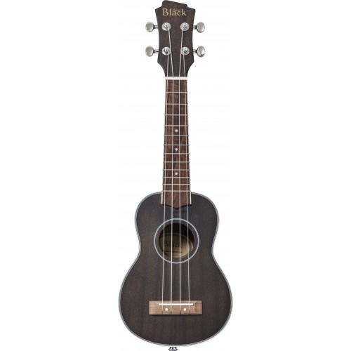Adam Black ABUKSB120 Electro Acoustic Soprano Ukulele - Black