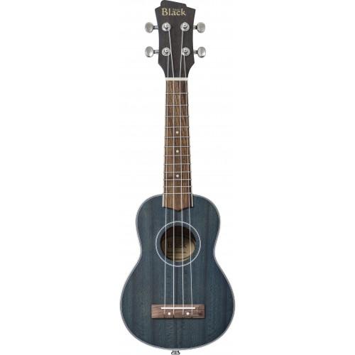 Adam Black ABUKSB120 Electro Acoustic Soprano Ukulele - Trans Blue