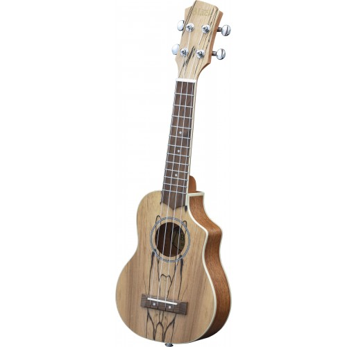 Adam Black Exotic Wood Series Soprano CE Ukulele - Spalted Maple