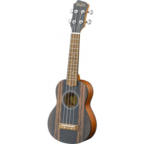 Adam Black Exotic Wood Series Soprano Ukulele - Striped Ebony