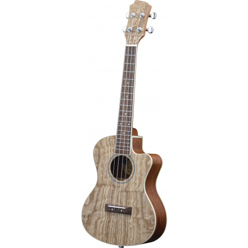 Adam Black Exotic Wood Series Tenor CE Ukulele - Quilted Ash