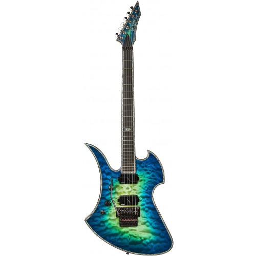 B.C. Rich Mockingbird Extreme Exotic with Floyd Rose Left Hand - Cyan Blue