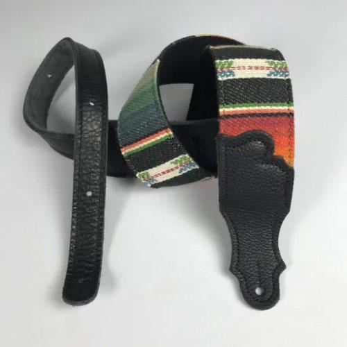 """Franklin 2"""" Saddle Blanket Guitar Strap - Black/Black"""