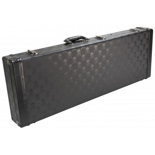 Coffin Case Skull Series Guitar Case with Red Velvet Interior