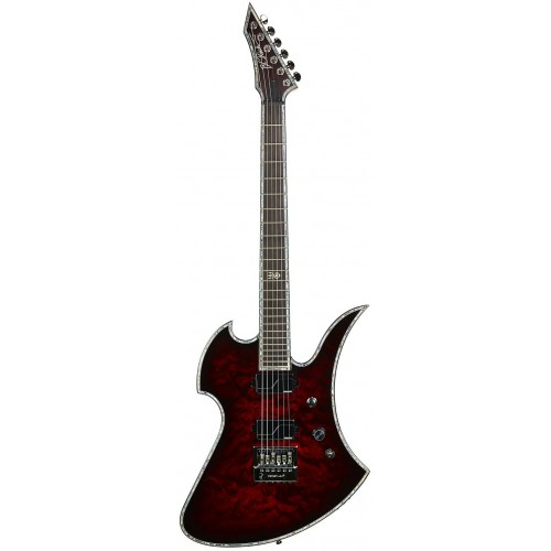 B.C. Rich Mockingbird Extreme Exotic with EverTune - Black Cherry Quilt