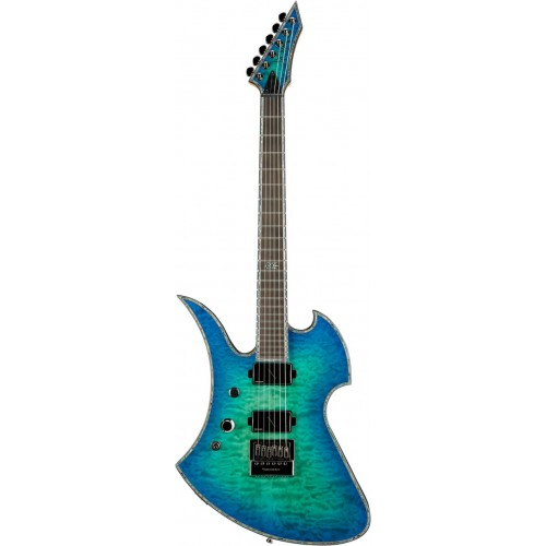 B.C. Rich Mockingbird Extreme Exotic with EverTune Left Hand - Cyan Blue