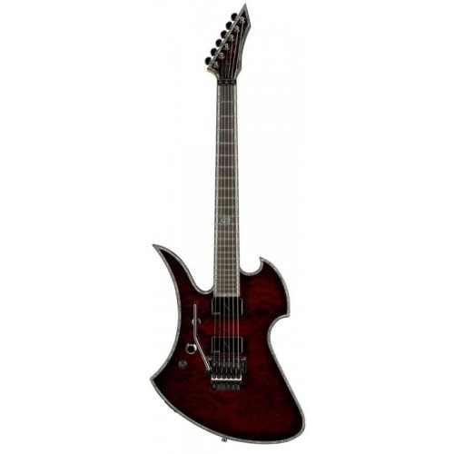 B.C. Rich Mockingbird Extreme Exotic with Floyd Rose Left Hand - Black Cherry Quilt