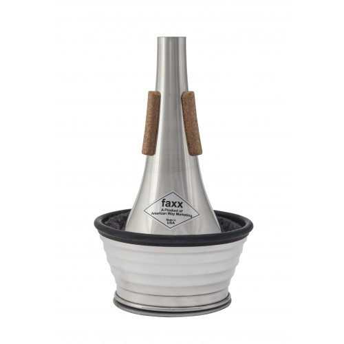 Faxx Trumpet Cup Mute - Aluminium with Ribbed Cup
