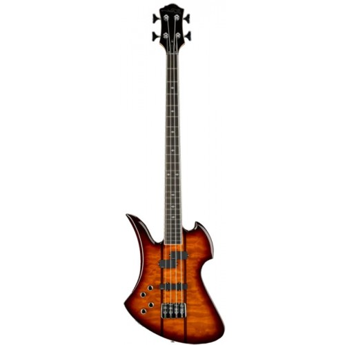 B.C. Rich Heritage Classic Mockingbird Bass Left Hand - Tobacco Burst