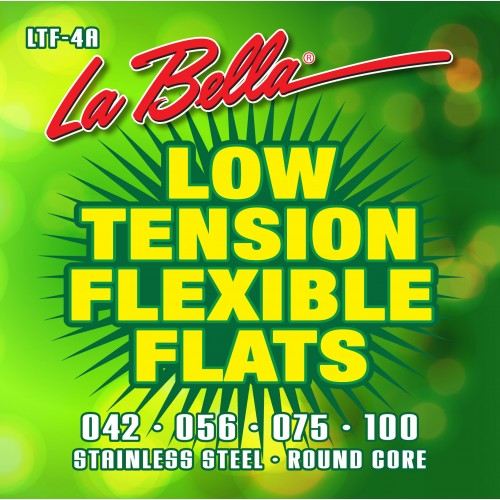 La Bella Bass Guitar Strings - Low Tension Flexible Flats