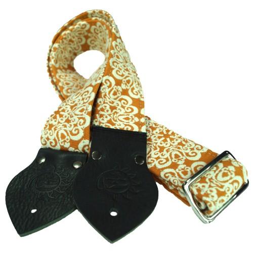 Dog Days Orange Mandala 2-Inch Strap