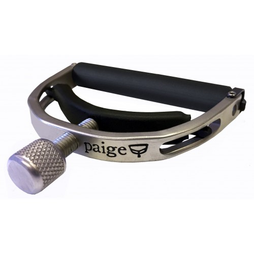 "Paige Original 6-String Guitar Capo - Nickel, 2.062"" Wide"