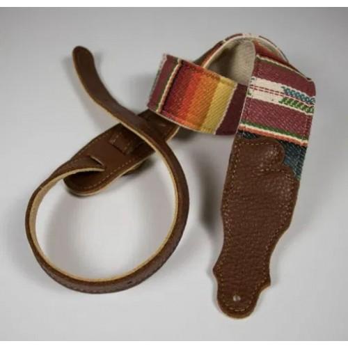 """Franklin 2"""" Saddle Blanket Guitar Strap - Caramel"""