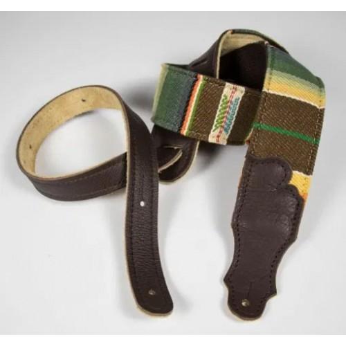 "Franklin 2"" Saddle Blanket Guitar Strap - Chocolate"
