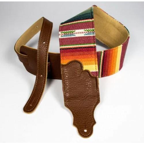 """Franklin 3"""" Saddle Blanket Guitar Strap - Caramel"""