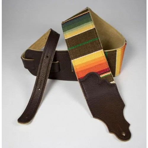 "Franklin 3"" Saddle Blanket Guitar Strap - Chocolate"
