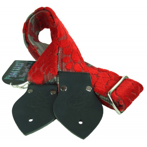 Dog Days Red and Grey 2-Inch Strap
