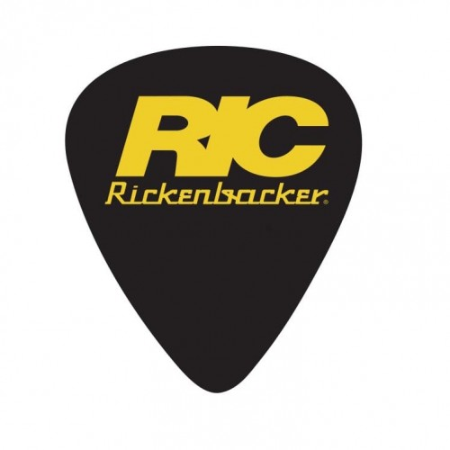 D'Andrea V-Resin Plectrum Bowl - Black with Orange Rickenbacker Logo (x1500)