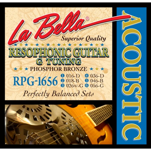 La Bella Resophonic Guitar Strings - Phosphor Bronze