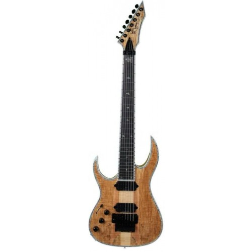 B.C. Rich Shredzilla 7 Prophecy Archtop with Floyd Rose Left Hand Spalted Maple